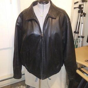Mens plus size leather jacket